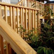 red cedar deck